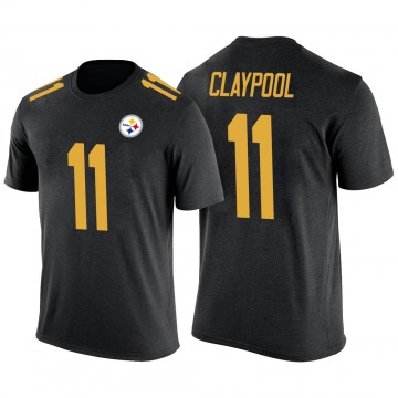 Men's Chase Claypool Pittsburgh Steelers Black Color Rush Legend T-Shirt