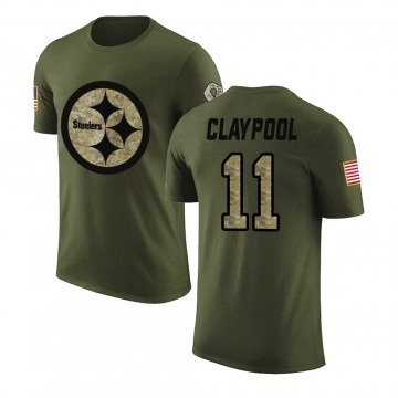 Men's Chase Claypool Pittsburgh Steelers Olive Salute to Service Legend T-Shirt