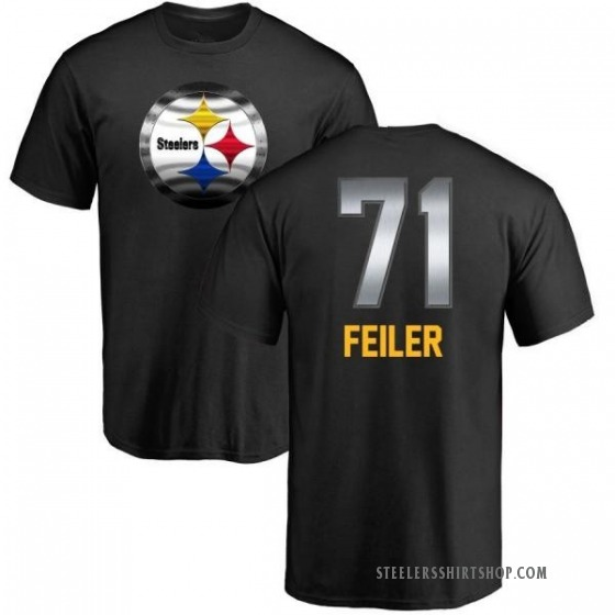 Men's Matt Feiler Pittsburgh Steelers Midnight Mascot T-Shirt - Black