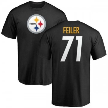 Men's Matt Feiler Pittsburgh Steelers Name & Number Logo T-Shirt - Black