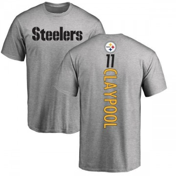 Youth Chase Claypool Pittsburgh Steelers Backer T-Shirt - Ash