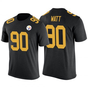 Youth T.J. Watt Pittsburgh Steelers Black Color Rush Legend T-Shirt